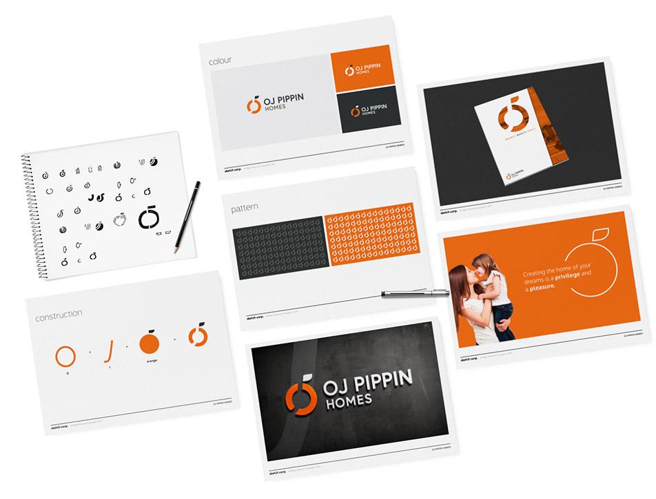 OJ Pippin Branding