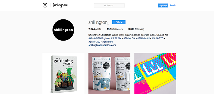 Shillinton design instagram account