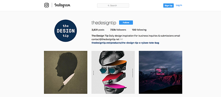 Design tip instagram account