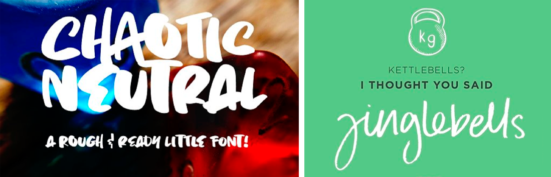 Chaotic fonts typography