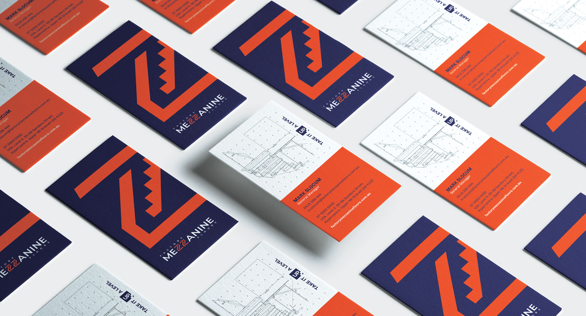 Factory Mezzanine Floors Business Cards