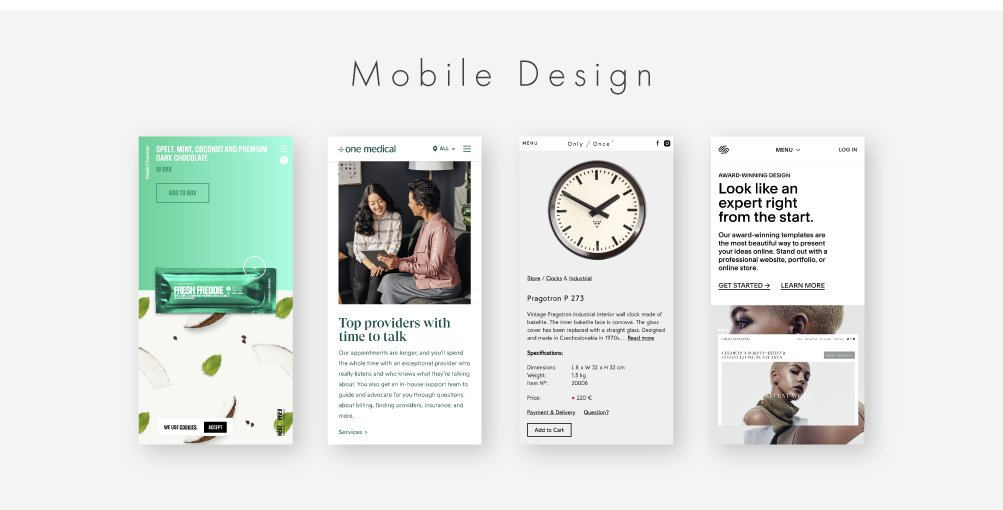 mobile web designs