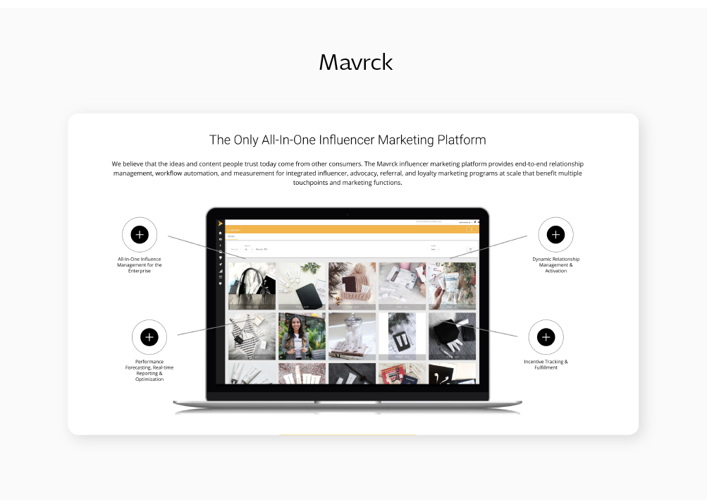 social media influencer marketing management tool Mavrck blog post by Sketch Corp.
