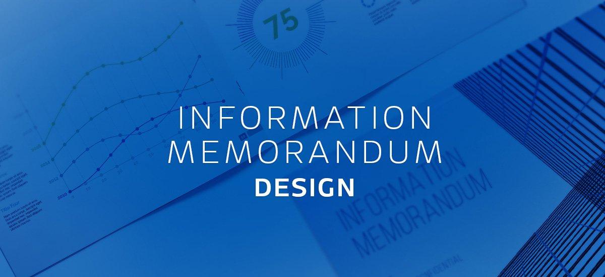 Information Memorandum Design Featured Image