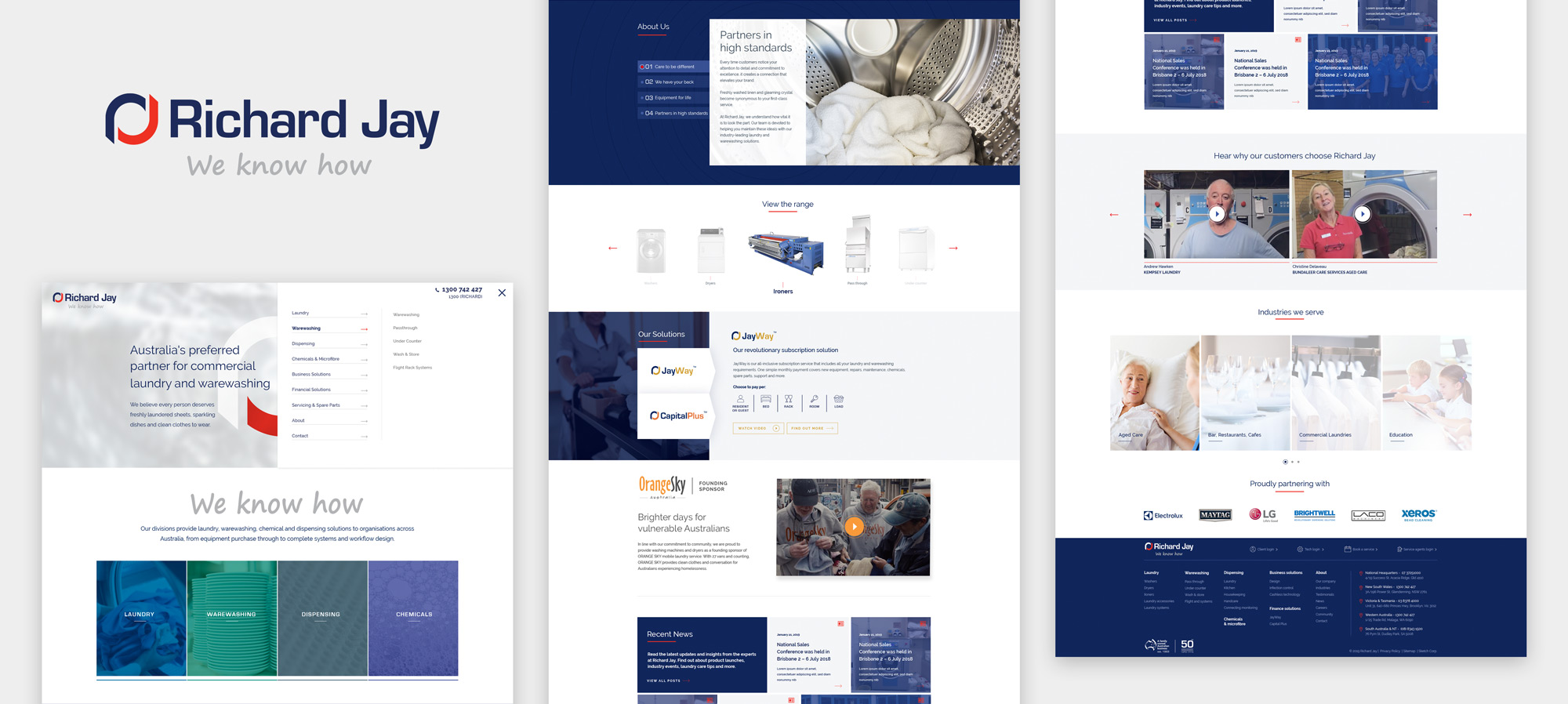 Web design project for Richard Jay by Sketch Corp.